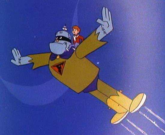Frankenstein Jr. (1966) é um desenho animado sobre um robô controlado por um garoto, que combatia supervilões.
