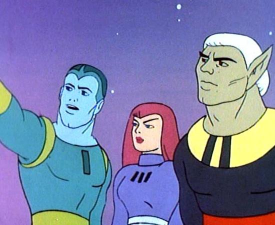 Galaxy Trio (1967) é uma série animada sobre um grupo de super-heróis que patrulha o espaço.