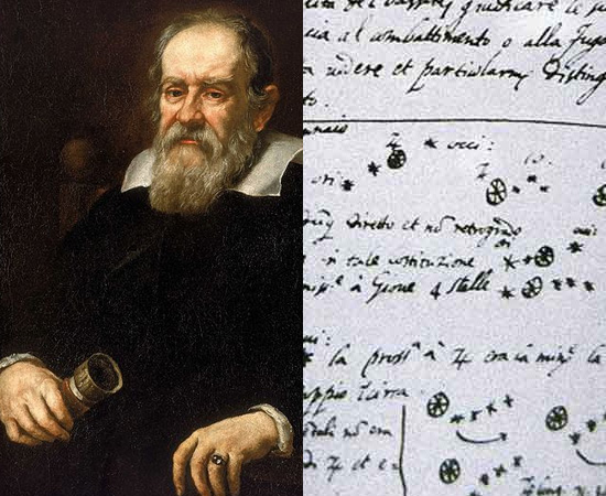 LUNETA (1609) - Galileu Galilei, inspirado pelo fabricante de lentes, Hans Lippershey, criou a luneta. O instrumento foi usado para identificar e estudar vários corpos celestes, como as trajetórias de Vênus e Júpiter, as crateras lunares e as manchas solares.