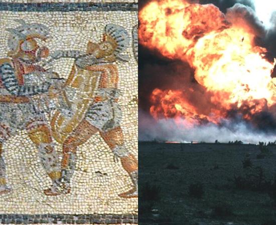 REFERÊNCIAS - Para escrever a trilogia, a autora Suzanne Collins se inspirou em cenas da Guerra no Iraque que eram transmitidas ao vivo pela TV, e em reality shows. O enredo foi baseado nos gladiadores romanos e no mito grego de Teseu.
