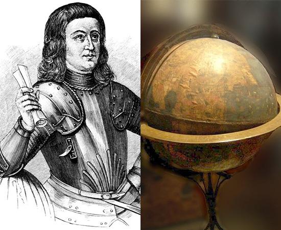 GLOBO TERRESTRE (1492) - Martim Behaim publicou o primeiro modelo da Terra em escala tridimensional, chamado de Globo Terrestre de Nürnberg. É importante ressaltar, no entanto, que a estrutura era bastante simplória, visto que nem mesmo a América havia sido explorada.