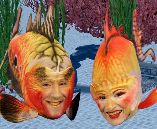 Glub Glub (1991) é um programa infantil que mostrava dois peixes conversando sobre lições de moral.