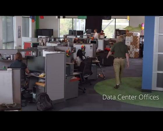 No data center de Lenoir, este é o local onde os funcionários trabalham para manter tudo funcionando 24h por dia.