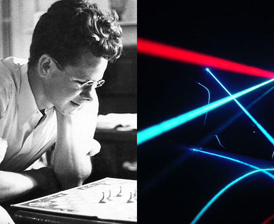 LASER - O termo foi publicado pela primeira vez em 1959, pelo cientista americano, Gordon Gould, para descrever um dispositivo que emite luz por um processo de amplificação ótica baseado na emissão estimulada de fótons. Antes, outros pesquisadores haviam concentrado seus estudos em invenções parecidas.