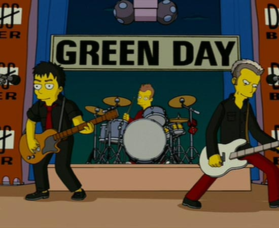 A banda americana Green Day.