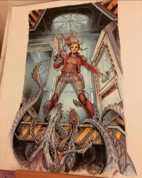 Kitty Pride, a Lince Negra dos X-men, assumiu o posto de StarLady, entre os Guardiões das Galáxias. A imagem que ilustrará a sexta edição do gibi ainda não saiu oficialmente, mas a artista responsável,Siya Oum, já mostrou em seu Instagram como ficará o desenho