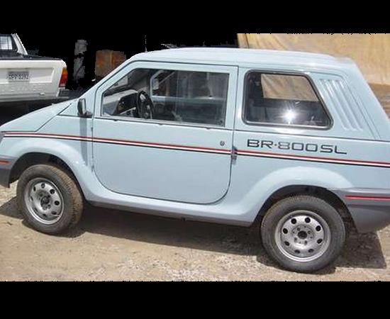 A Gurgel lançou o BR-800, primeiro carro totalmente desenvolvido no Brasil. Para comprar um, era preciso também comprar ações da empresa. Poucos anos depois, ela faliu.