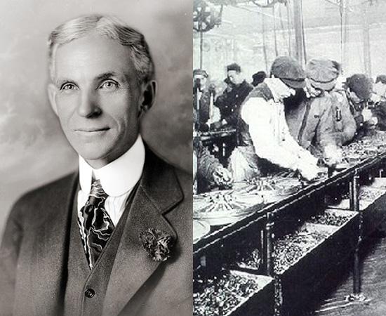LINHA DE PRODUÇÃO - É uma forma de produção em série, popularizada em 1913, pelas linhas de montagem de Henry Ford.