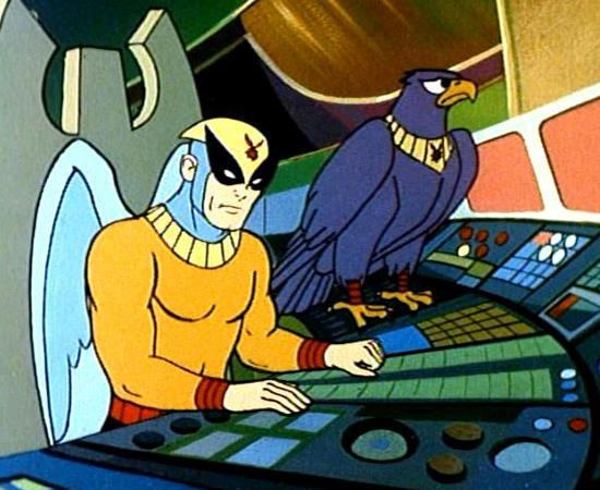 Homem Pássaro (1967) é um desenho sobre um humano (Ray Randall) que ganha poderes do deus-sol (Ra).