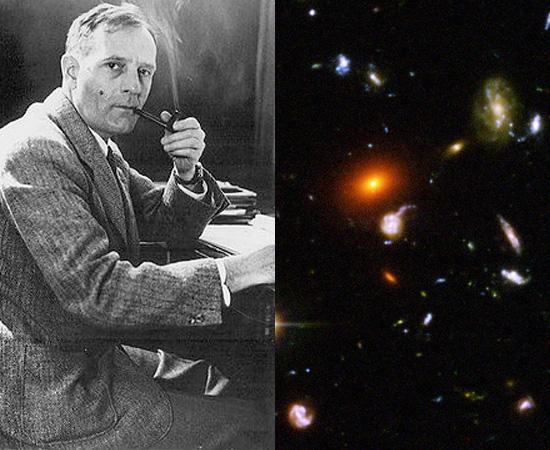 TEORIA DO BIG BANG - Em 1927, o padre e cosmólogo belga  Georges Lemaître realizou estudos que indicavam a expansão do universo, que seria causada pela explosão de um átomo original. Mas só em 1929 é que a teoria foi sistematizada pelo astrônomo americano Edwin Hubble. O estudo ficou conhecido como Lei de Hubble-Humason.