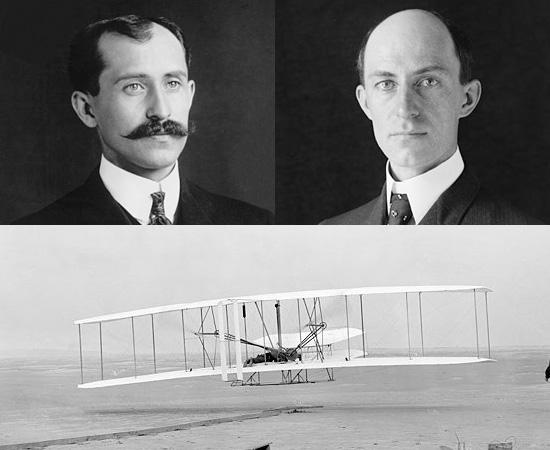 AVIÃO - Há muita polêmica sobre quem teria inventado o avião: Santos Dumont ou os irmãos Wright. De acordo com a Federação Aeronáutica Internacional, o prime voo público de Dumont ocorreu em 1906. Já o primeiro voo documentado dos irmãos Wright ocorreu em 1903.