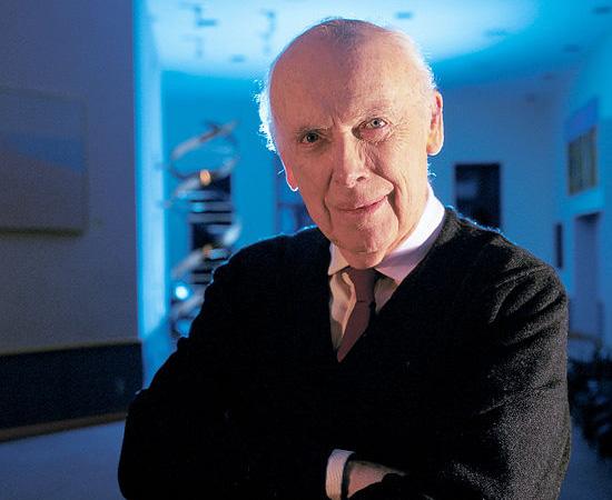 JAMES WATSON (1928) - Biólogo molecular e geneticista americano que sugeriu o modelo de dupla-hélice da estrutura das moléculas de DNA. Foi premiado com o Nobel de Fisiologia/ Medicina em 1962.