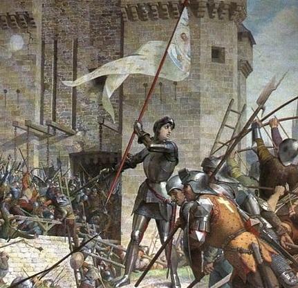 A francesa Joana dArc é outro nome tradicional quando se pensa em mulheres que lideraram batalhas e rebeliões. Uma das várias lideranças da interminável Guerra dos Cem Anos, ela é representada nessa pintura de Jules Eugène Lenepveu.