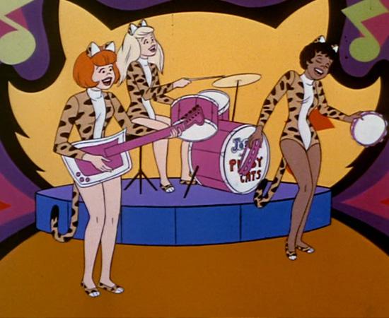 Josie e as Gatinhas (1970) é um desenho animado sobre uma banda musical de garotas que vive aventuras durante viagens e shows.