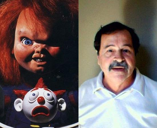 Dublador: Julio Chaves. Aterrorizou o Brasil com a voz de Chucky, o Brinquedo Assassino. Também dublou vários personagens de Mel Gibson e Andy Garcia.