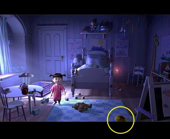 A bola também aparece no filme Monstros S/A (2001).