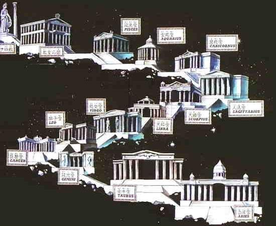 MAPA - A história de Os Cavaleiros do Zodíaco acontece na Terra, mais especificamente nas Doze Casas que precedem o Santuário - localizado em uma área não identificada da Grécia. Mas há momentos em que a história se estende para outros lugares mundo afora, como os países nórdicos e a Sibéria.