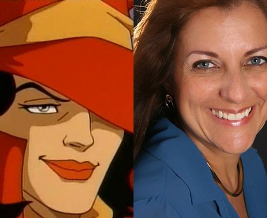 Dubladora: Mariângela Cantú. Imortalizou a voz da vilã Carmem Sandiego. Também dublou Margie Simpson e Tenente Uhura (Jornada nas Estrelas).