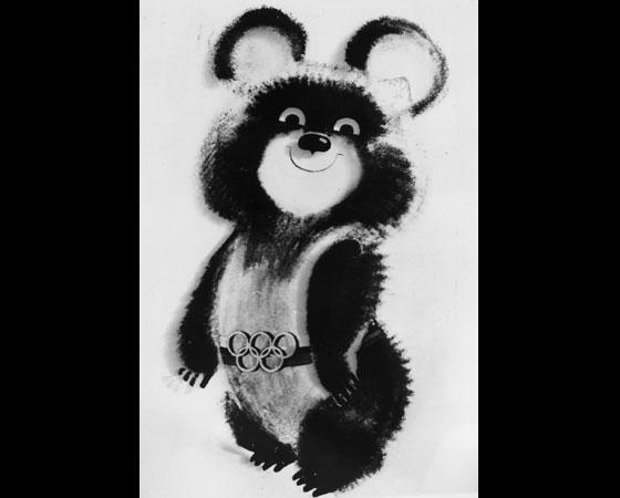 ´Misha´ - Jogos Olímpicos de Moscou (1980): Um dos mascotes mais cativantes, o filhote de urso Misha é um dos mais lembrados até hoje. Ele foi desenhado por Victor Chizhikov, um importante ilustrador de livros infantis. O urso foi escolhido por ser um dos símbolos nacionais da União Soviética.