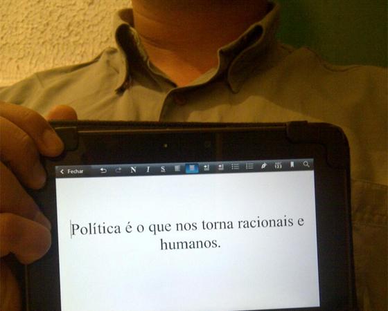 #minhapolitica Alan Kaminski, no Twitter