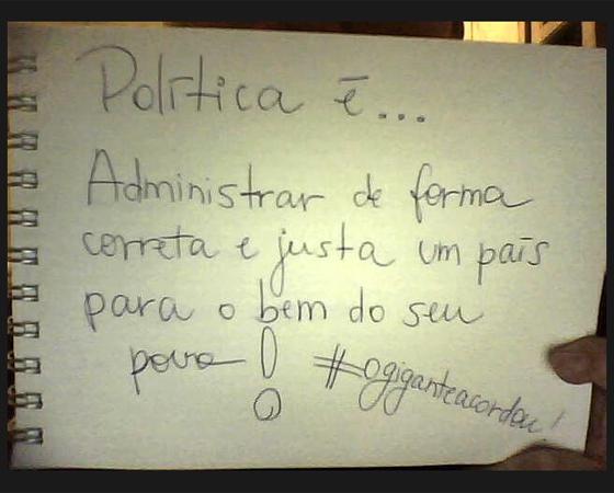 #minhapolitica Juliana Santiago, no Twitter