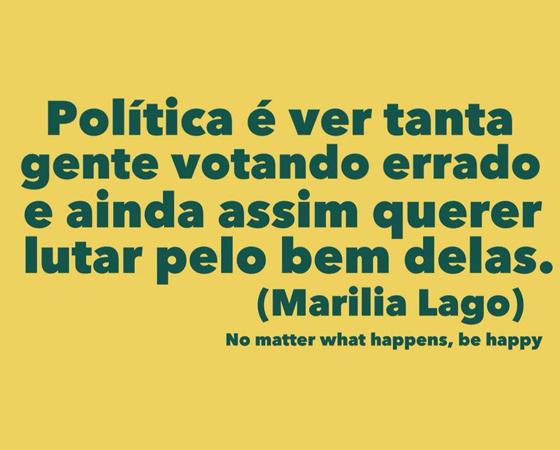 #minhapolitica Marilia Lago, no Facebook