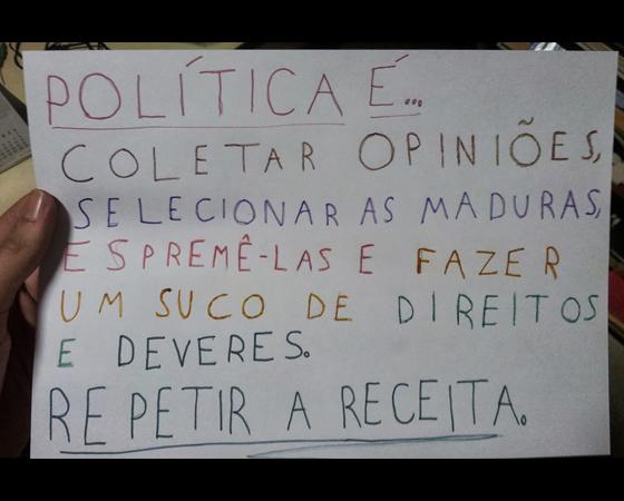 #minhapolitica Lucas Rebelo DalBello, integrante da Liga SUPERextraordinária, no Facebook