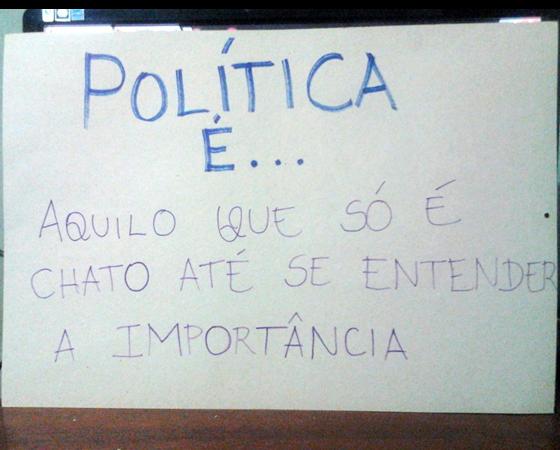 #minhapolitica Doriene Monteiro, integrante da Liga SUPERextraordinária, no Facebook