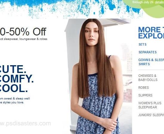 A modelo deste site de moda feminina parece ter o mesmo problema no pescoço!