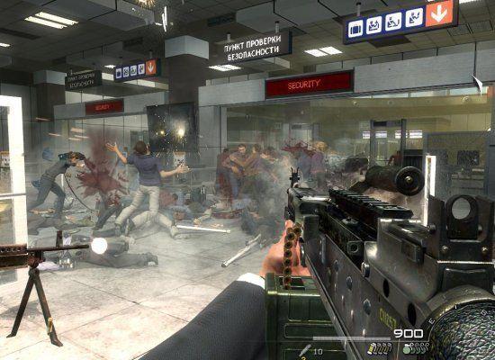 Outro famosa franquia de jogos de tiro, <i>Call of Duty: Modern Warfare 2</i>, foi lançado em 2009. A polêmica ficou por conta de uma fase opcional do jogo: uma missão em que um jogador poderia optar por se unir a terroristas durante um massacre, num aeroporto.