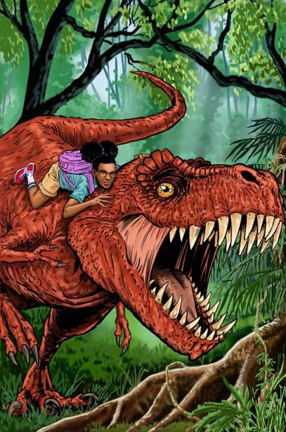 Adolescente, negra, e parceira de um dinossauro, Moon Girl foi apresentada aos fãs da Marvel no final do ano passado. A artistaPia Guerra cuida da capa