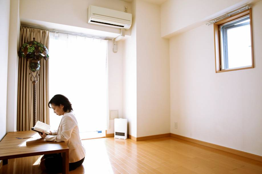 Também minimalista, Saeko Kushibiki vive em Fujisawa, sul de Tóquio.