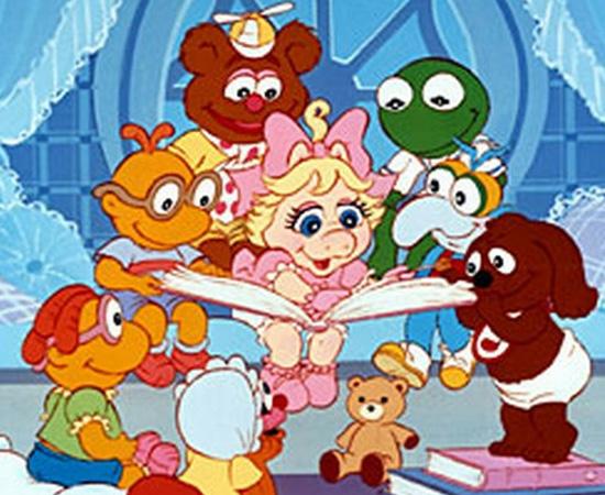 Muppet Babies (1984) é um desenho animado que mostra vários personagens convivendo em um berçário.