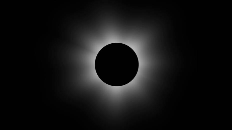 Um eclipse solar foi visto no dia 20 de março no Hemisfério Norte. Na foto, dá pra ver alua bloqueando o sol. O eclipse total só pôde ser visto em Svalbard e nas Ilhas Faroe, mas moradores da Europa, África e Ásia conseguiram ter uma visão parcial do fenômeno.