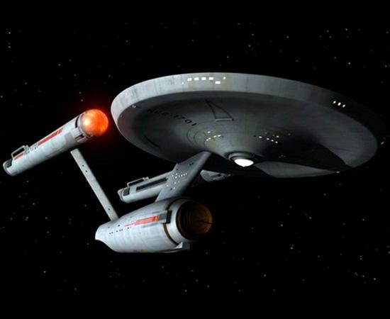 Comandada pelo capitão James T. Kirk, a nave Enterprise de Star Trek é uma das mais famosas da ficção científica.