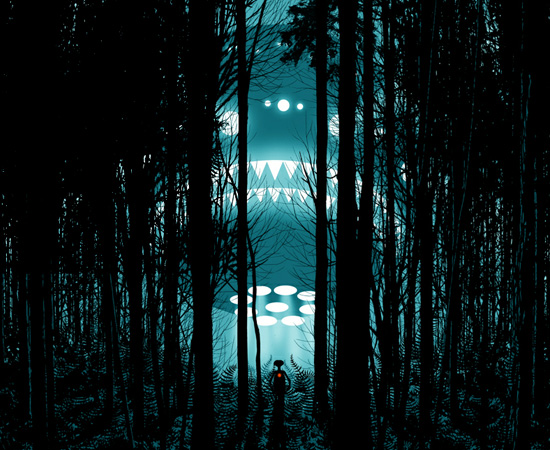 Esta é a nave espacial do filme E.T. de Steven Spielberg.