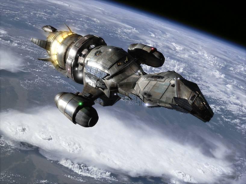 Serenity é a nave espacial da série de TV Firefly. No ano de 2.517, ela transporta os humanos par um novo sistema solar.
