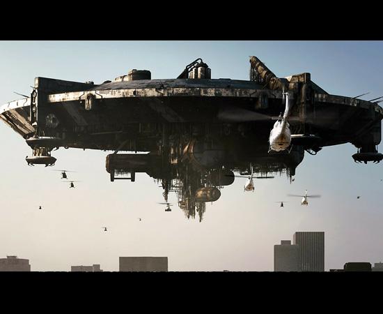 Esta é a nave mãe que aterroriza os terráqueos no filme District 9.