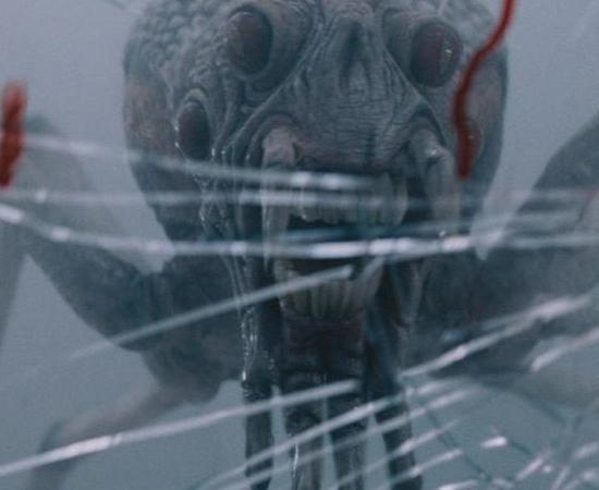 No filme O Nevoeiro (2007), um grupo de pessoas fica preso em um supermercado que é cercado por uma densa neblina. Em certo momento aparecem aranhas gigantes que lançam teias ácidas.