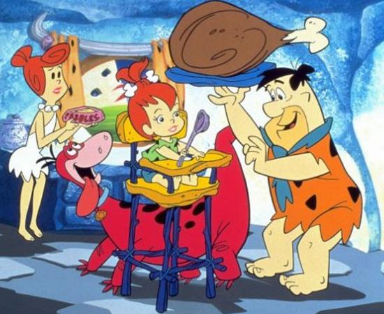 Os Flintstones (1960) é uma série animada sobre uma família que vive na Pré-História.