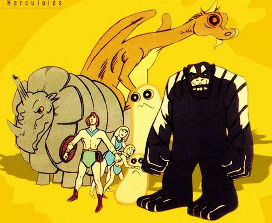 Os Herculóides (1967) é uma série animada sobre monstros poderosos que protegem o planeta Quasar.