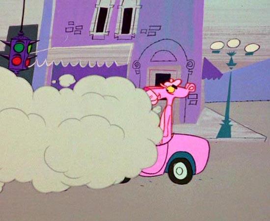 A Pantera Cor-de-rosa (1964) é um desenho animado sobre um inspetor que procura uma pedra preciosa.
