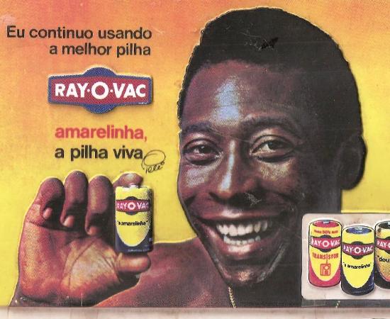 Pelé era Pelé. Garoto-propaganda.