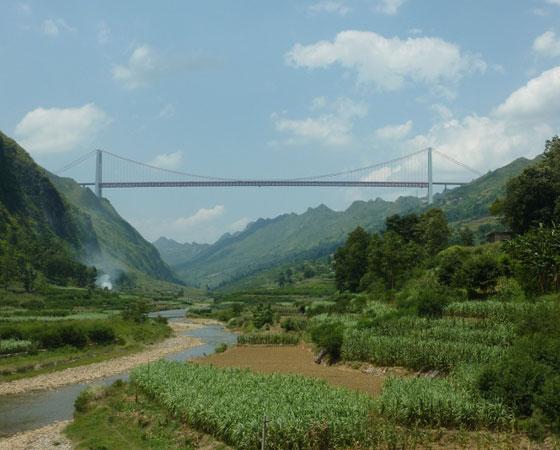 4. Baling River Bridge. Inaugurada também em 2009, tem 370 metros de altura. Fica em Guizhou, na China.