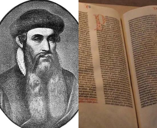 IMPRENSA (1454) - O inventor alemão Johannes Gutemberg criou o tipo mecânico para impressão e revolucionou a Ciência. O primeiro livro impresso foi a Bíblia.