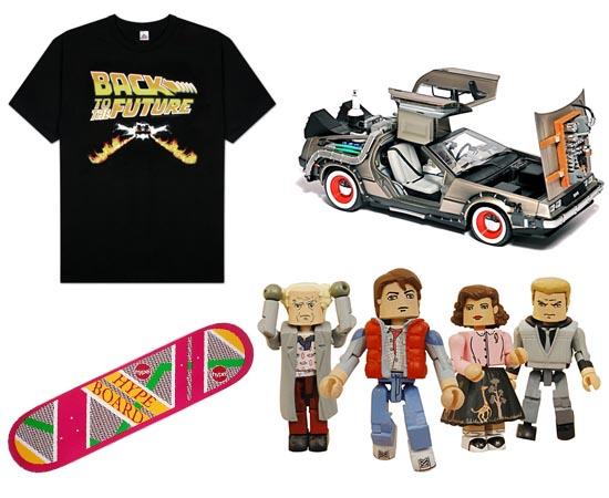 PRODUTOS - Atualmente, existem bonecos de De Volta para o Futuro, camisetas, jogos, brinquedos e até atrações em parques de diversão.