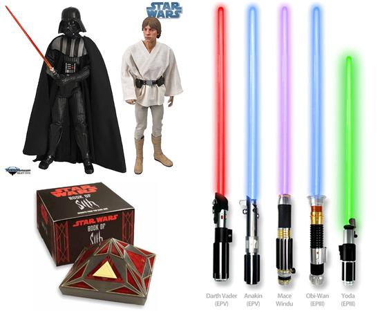 PRODUTOS - A saga 'Star Wars' possui jogos, livros, histórias em quadrinhos, eventos internacionais, filmes spin-offs, bonecos, cartas e armas de brinquedo (inclusive sabres de luz!).