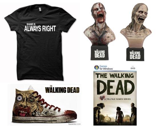 PRODUTOS - A saga The Walking Dead já inspirou vídeo game, jogo de tabuleiro, camisetas, pôsteres e adesivos.