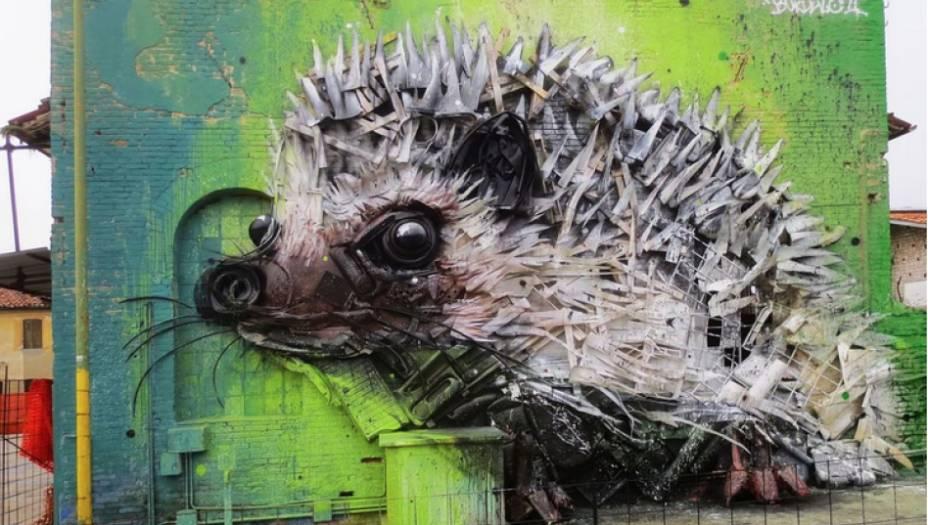Um dos pontos centrais das esculturas do artista são os olhos dos animais, que tornam as obras quase impossíveis de ignorar por quem passa.