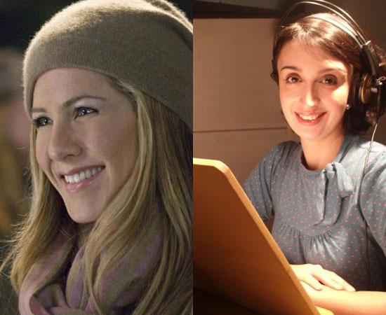 Dubladora: Mabel Cezar. Já fez a voz de Jennifer Aniston, da Luluzinha e da Janet (Eu, a Patroa e as Crianças).